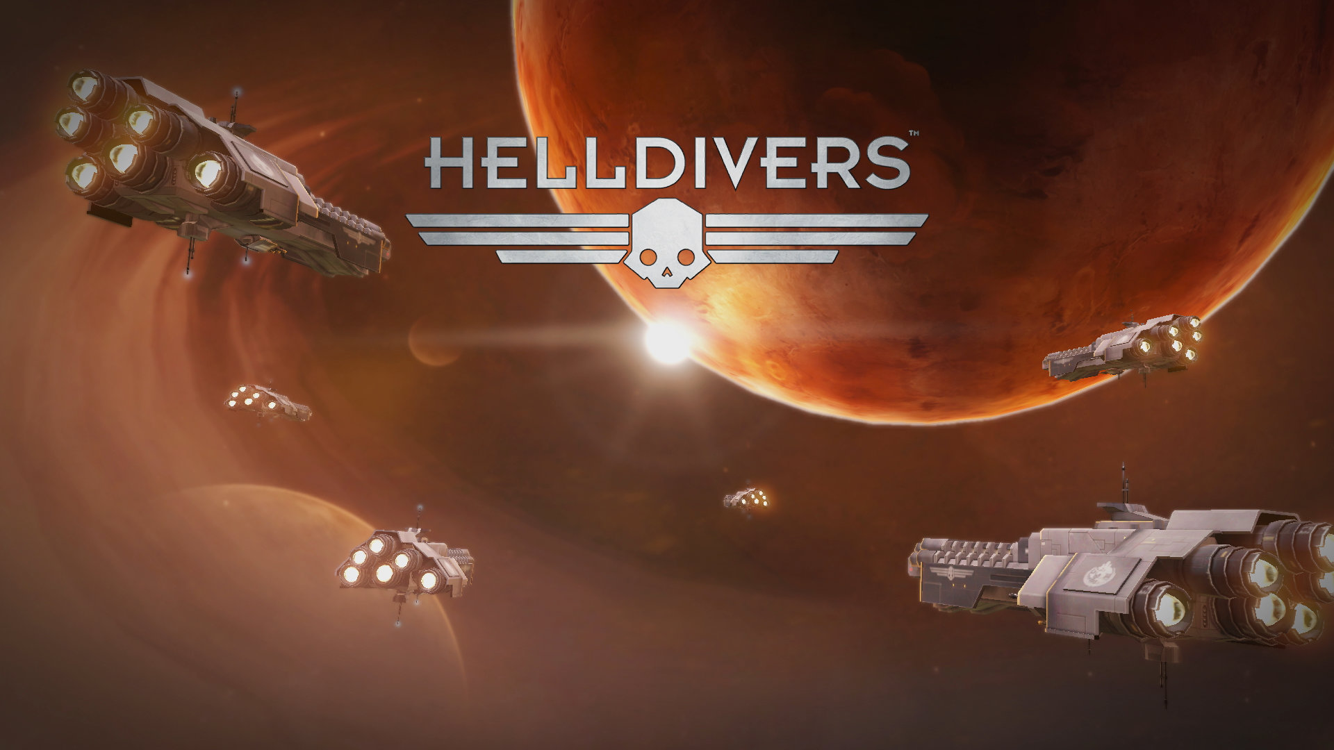 PS4 HELLDIVERS Title screen Desert