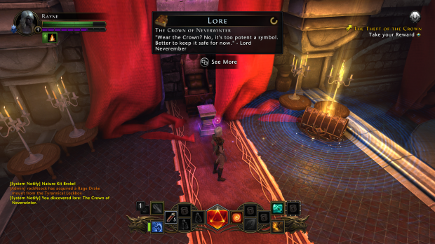 Lore pick-ups, chests, feats - Neverwinter sticks to its D&D guns.