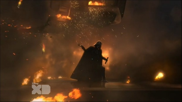 Darth Vader is insanely powerful, an enemy our heroes couldn't currently hope to defeat.