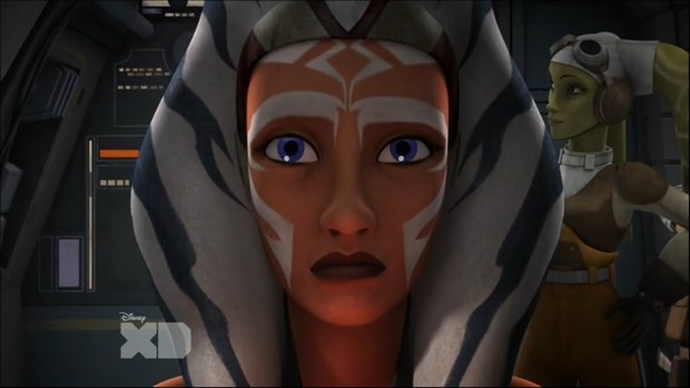 Ahsoka chooses not to tell the others what she knows.