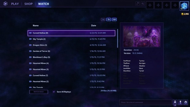 Replays are automatically recorded, and it's easy to go back and rewatch teamfights or capture that perfect moment.