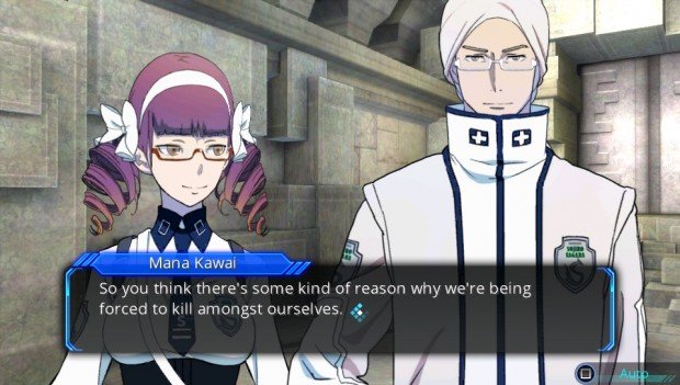 Visual-novel-style segments punctuate story missions, fleshing out the characters and their growing paranoia.