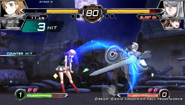 Each fighter utilizes their signature style, like Misaka's electric attacks.