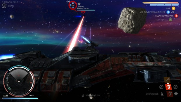 Even mining lasers can be effective combat weapons, though they can't match up to missiles and EMPs.