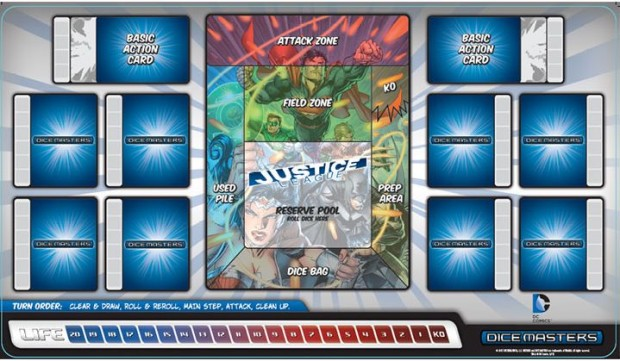 Playmats greatly facilitate the flow of the game - look pretty good too!