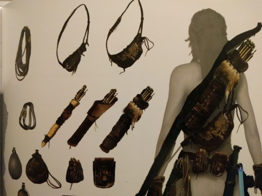 Lara's various upgrades and accessories.