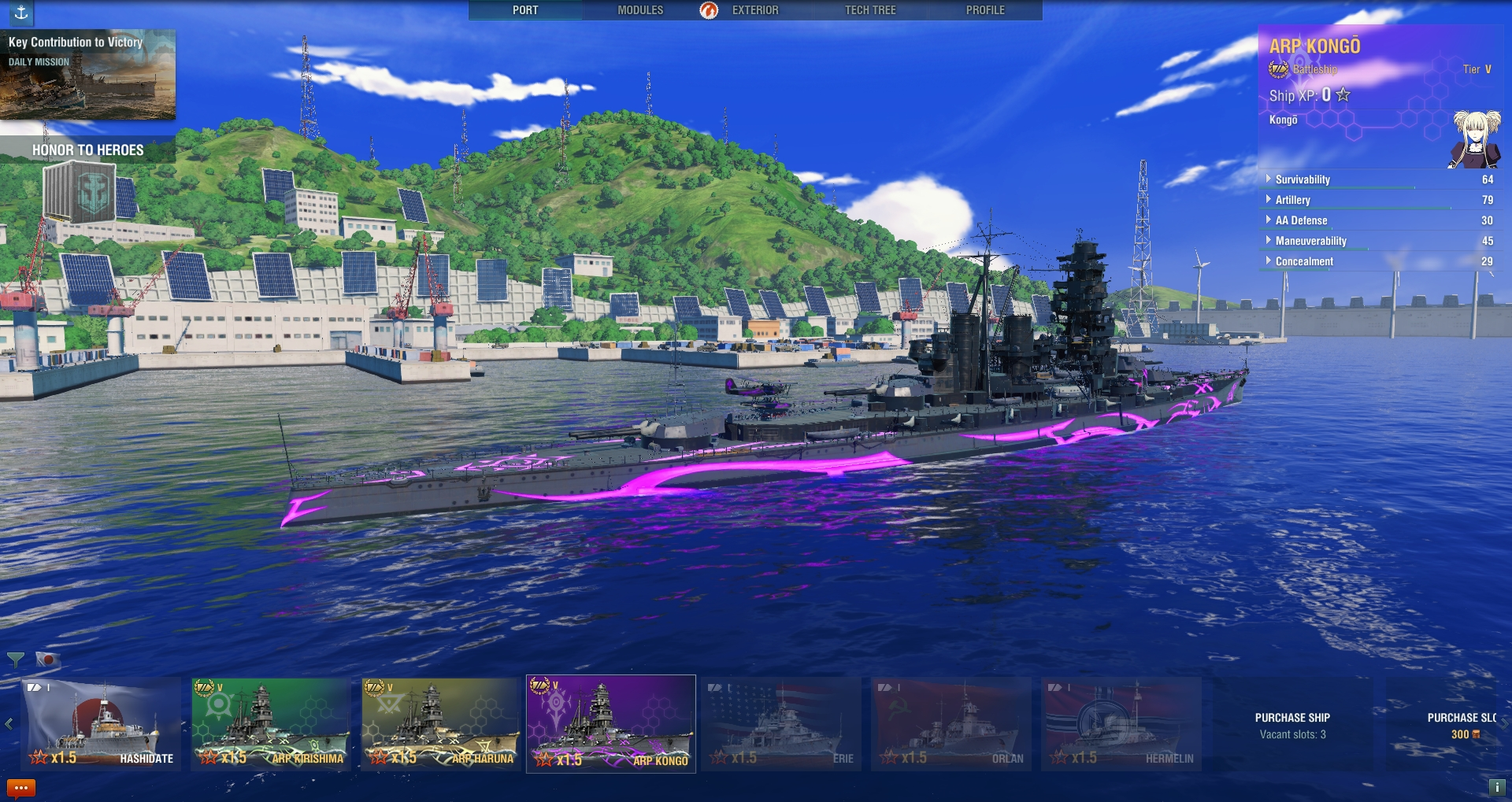 WoWS_Screens_Arpeggio_of_Blue_Steel_Ars_Nova_Yokosuka_Port_Image_01