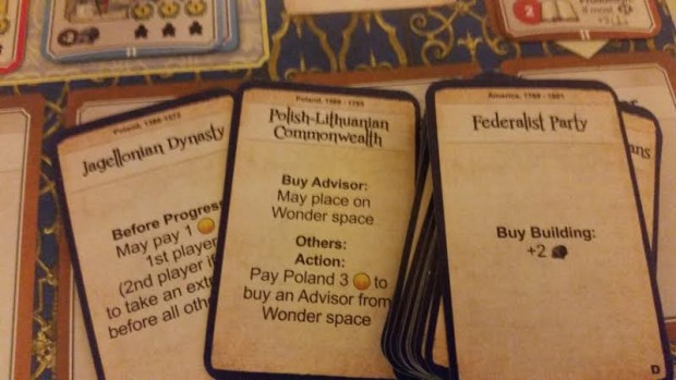 Dynasty cards give multiplayer games more flavor but add little to the solo variant.