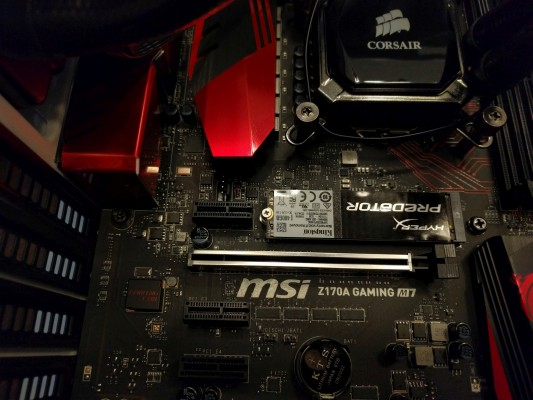 installed with the smallest screw on the planet, but ready to tear up benchmarks.