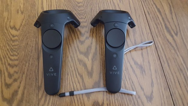 The Vive remotes, which felt almost natural after mere minutes.