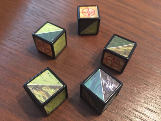 These dice direct your path.