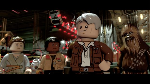 Han Solo, just as suave as in the movie.
