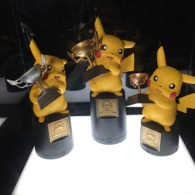 The trophies created for the 2016 Pokémon World Championships are Pika-cute. (via Twitter: @Kitosan)