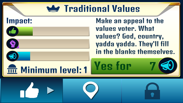 Traditional values, now with 50% more influence!