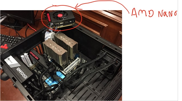 Figure 6: For reference, this is an AMD Nano. In a future where multiple GPUs are the norm, it's not how powerful a single one is but how well multiple GPUs will scale.