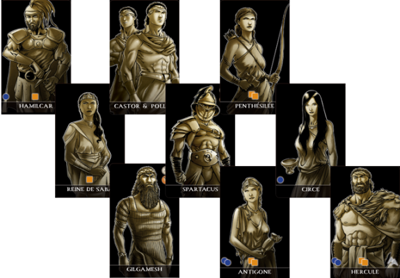 Plenty of heroes from antiquity are available to enhance your empire.