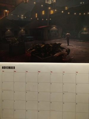 The CE comes with a 14 month calendar of concept art.