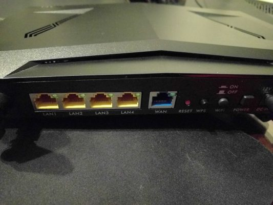 Gigabit ports all the way around.