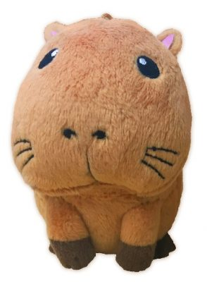 "The capybara pre-order plushie stands 3.5"" tall"