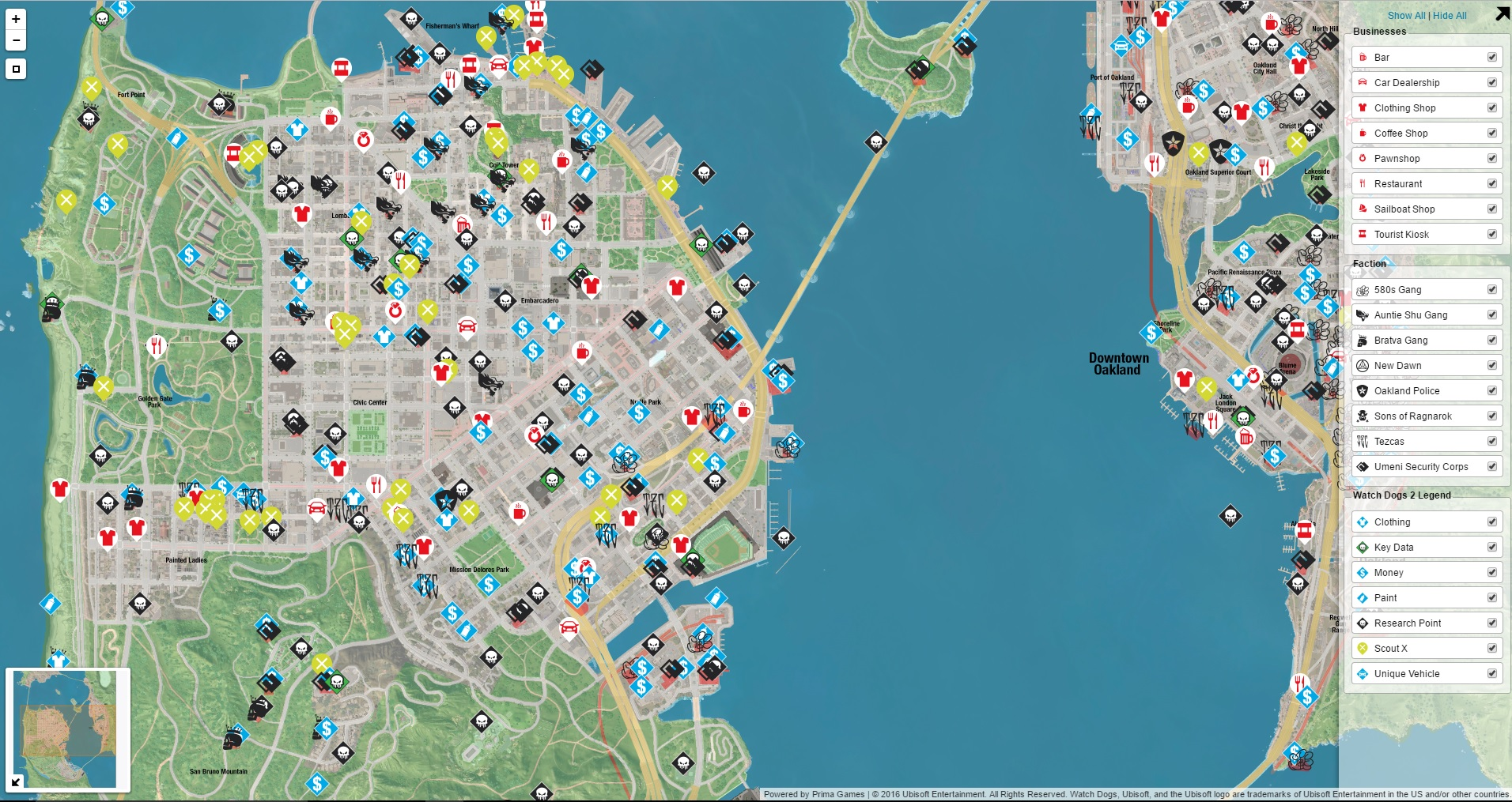 Watch Dogs  Collectibles Map