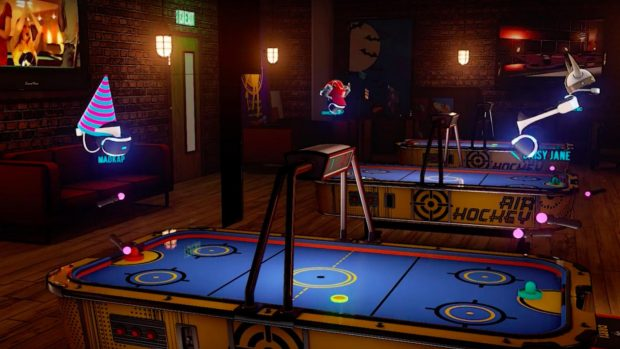Air hockey is fun multiplayer