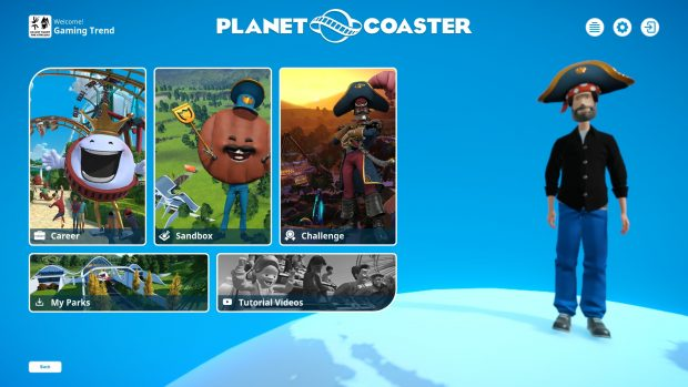 There are several ways to play Planet Coaster.