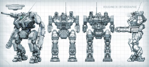 The Roughneck is the first mech from Piranha