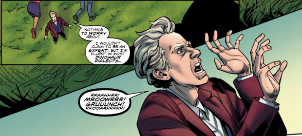 The Twelfth Doctor speaks Dinosaur.