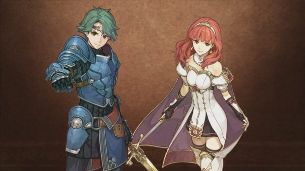 Alm and Celica, the main characters of Fire Emblem Echoes: Shadows of Valentia