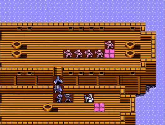 One of Fire Emblem Gaiden's boat maps