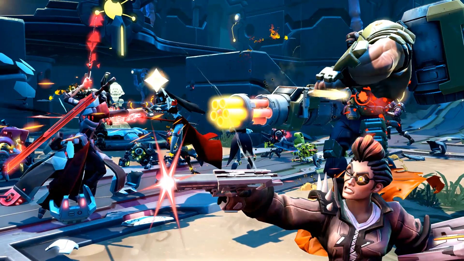 2KGMKT_BATTLEBORN_FREETRIAL_Group-Fight_03_1920x1080