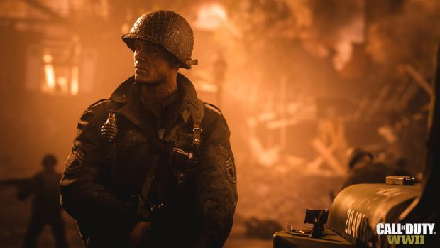 Screen shot of Call of Duty: WWII's Sgt. Pierson