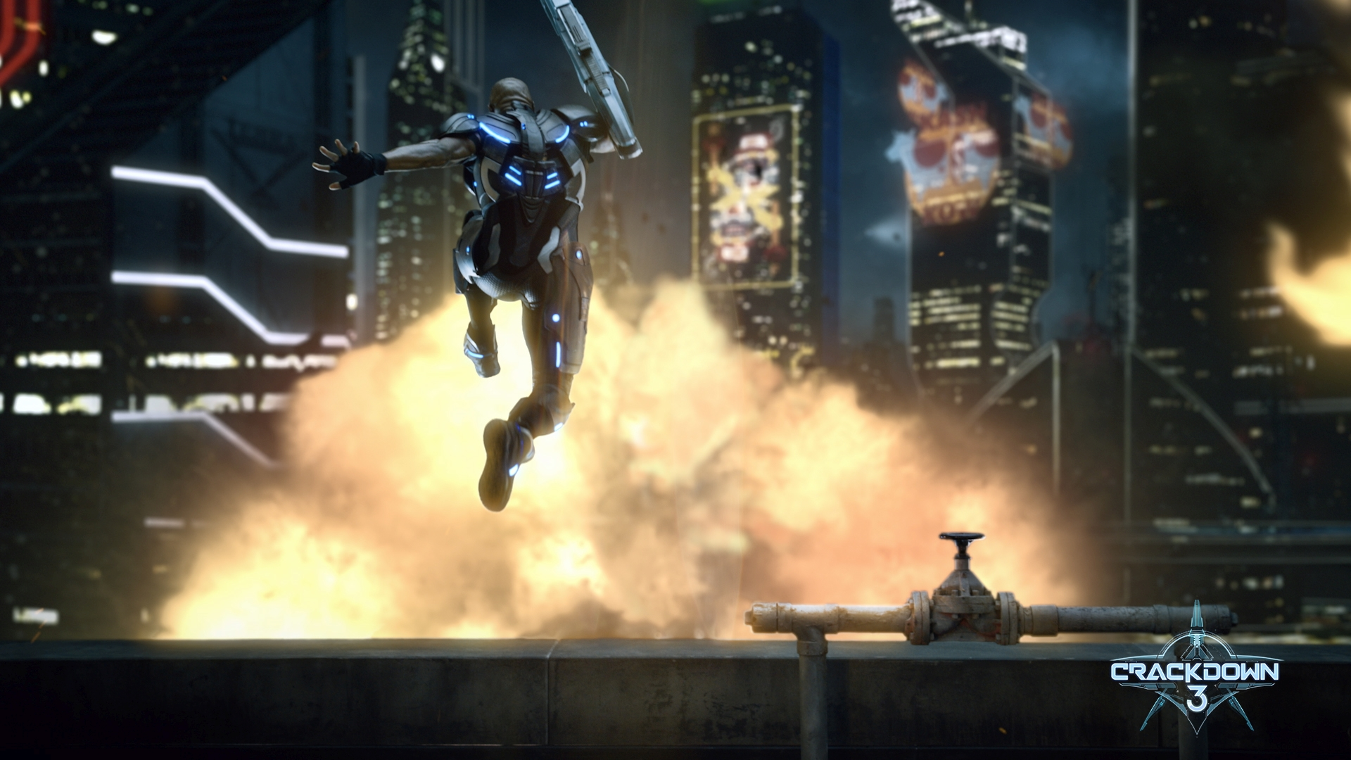 Crackdown 3 Commander Jaxon Jumping