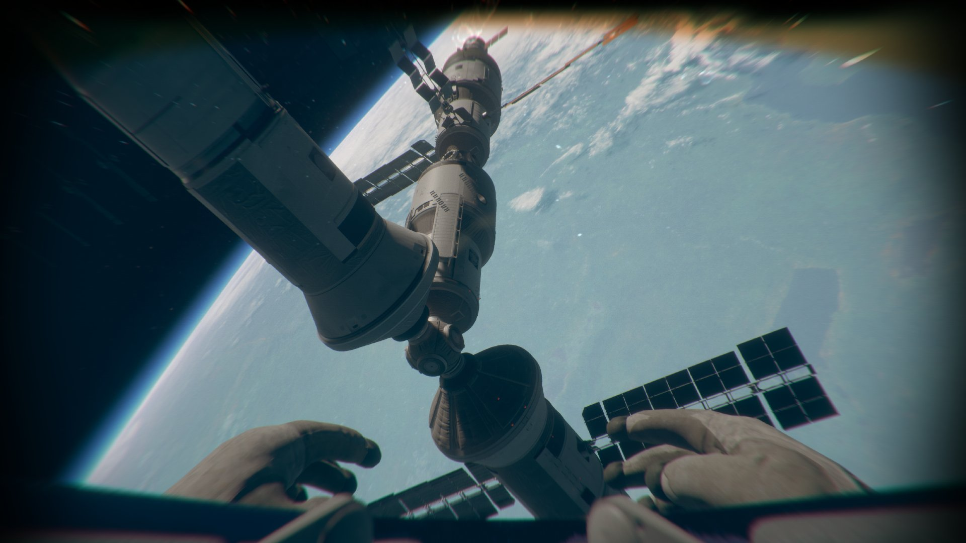 Screenshot of Outreach space exploration game