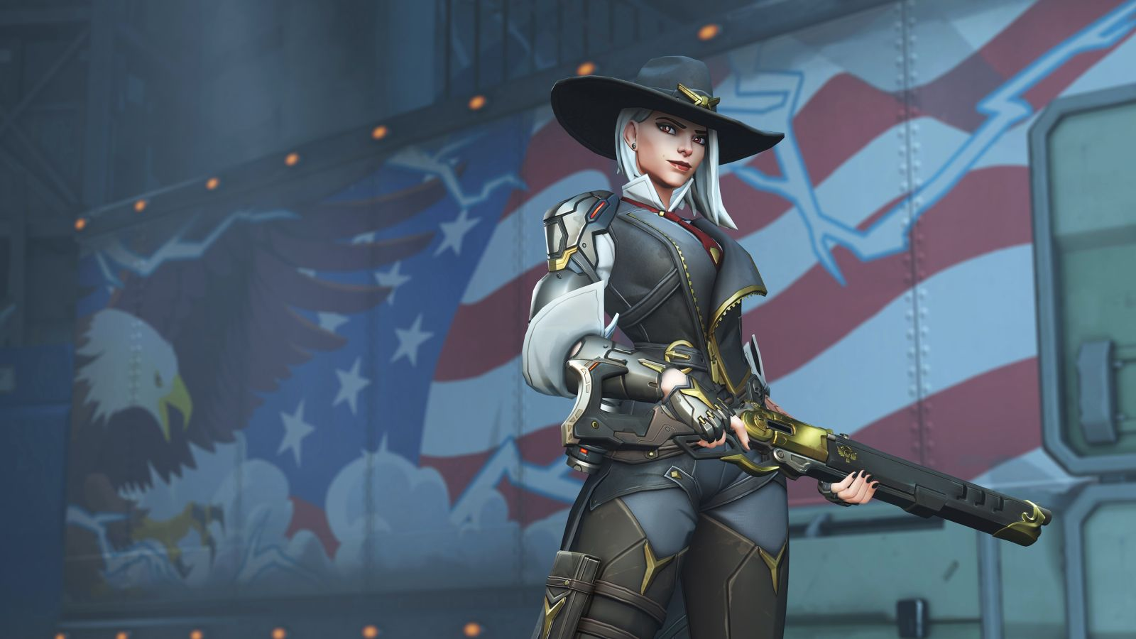 Ashe sprays in Overwatch Game Archives - VoStory