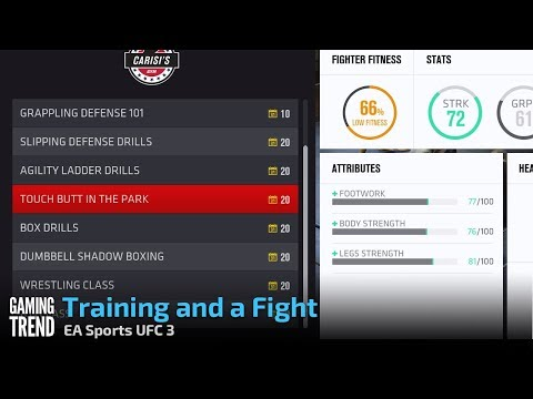 EA Sports UFC 3 - Training and a Fight - Career Mode [Gaming Trend]