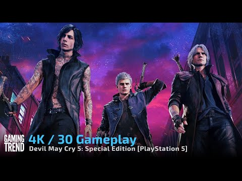 Devil May Cry 5 Special Edition - 4K 30 Gameplay on PlayStation 5 [Gaming Trend]