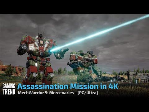 Mechwarrior 5 Mercenaries - Assassination Mission in 4K Ultra - PC [Gaming Trend]
