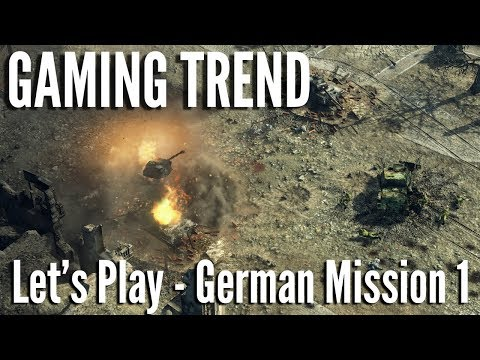 Sudden Strike - Let's Play - German Mission 1 on PC - [Gaming Trend]