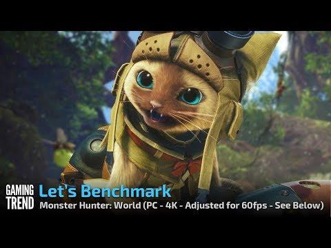 Monster Hunter: World - PC Benchmark 4K 60fps [Gaming Trend]