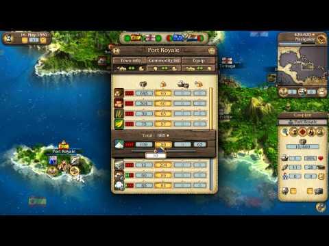 Port Royale 3: Pirates & Merchants Video Tutorial No. 1 - Basic Gameplay