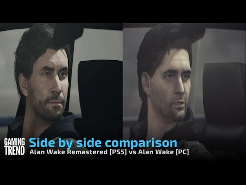 Alan Wake Remastered - Side by side comparison - [PS5 vs 2012 PC version] [Gaming Trend]