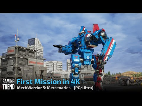 Mechwarrior 5 Mercenaries - First Mission and Intro in 4K/Ultra - PC [Gaming Trend]
