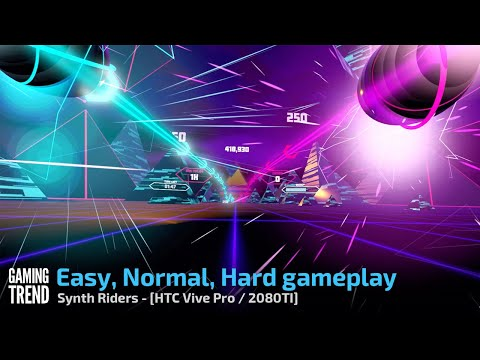 Synth Riders - Easy, Normal and Hard Gameplay - PC [Gaming Trend]