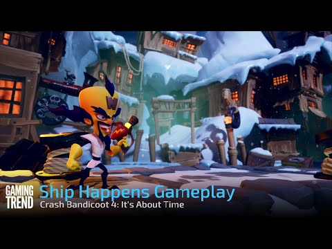 Crash Bandicoot 4: It's About Time - Ship Happens Gameplay - PS4 Pro [Gaming Trend]