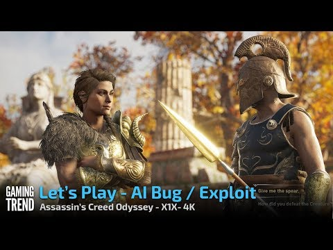 Assassin's Creed Odyssey - AI Bug - X1X 4K [Gaming Trend]