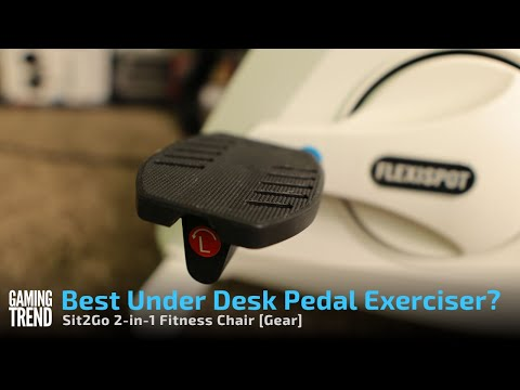 Best Under Desk Pedal Exerciser? We review the Flexispot Sit2Go Fitness Chair [Gaming Trend]
