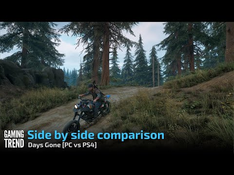 Days Gone - Side by side comparison [PC vs PS4] - [Gaming Trend]