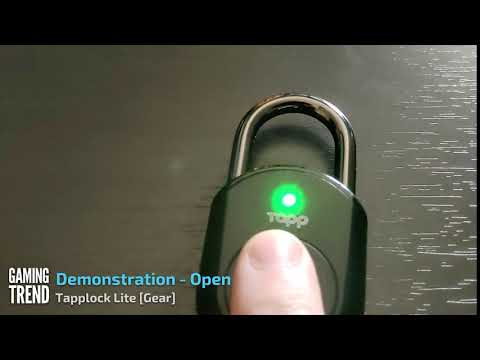 Tapplock Lite - Opening Demonstration - Gear [Gaming Trend]