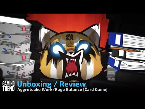 Aggretsuko Work/Rage Balance Card Game Unboxing and Overview [Gaming Trend]